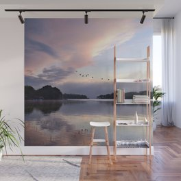 Uplifting: Geese Rise at Dawn on Lake George Wall Mural