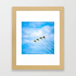 aircraft vintage airplanes aviation Framed Art Print
