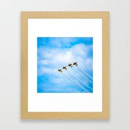 aircraft vintage airplanes aviation Framed Art Print