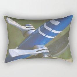 Close up of a bike seat adjuster Rectangular Pillow