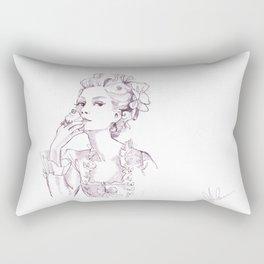 Marie Antoinette - Pen/Ink Rectangular Pillow