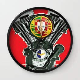 Portuguese Christian Motorcyclist. Wall Clock