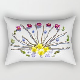 Spring flowers and branches III Rectangular Pillow