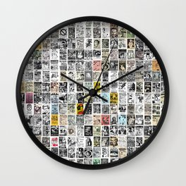 Punk Show Flyers Wall Clock