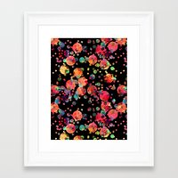 confetti Framed Art Prints featuring Confetti by Schatzi Brown