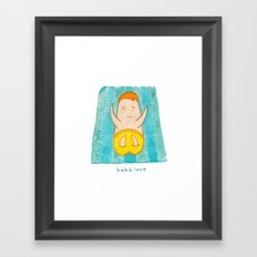 bebe love Framed Art Print