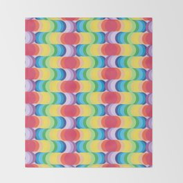 Rainbow Dragon Scales 2 Throw Blanket