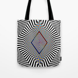 Matrix processor. Holographic hypnotic pattern. Tote Bag