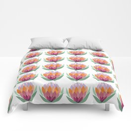 South African King Protea flower Comforters