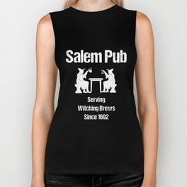 salem pub serving witching brews since 1692 halloween t-shirts Biker Tank