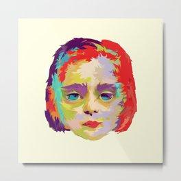 FACE OF MAUDE CHILD Metal Print