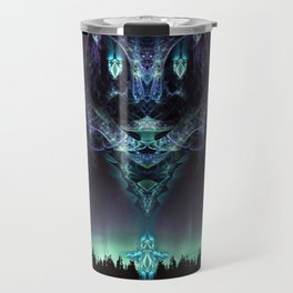 Midnight Aura - Fractal Manipulation - Manafold Art Travel Mug