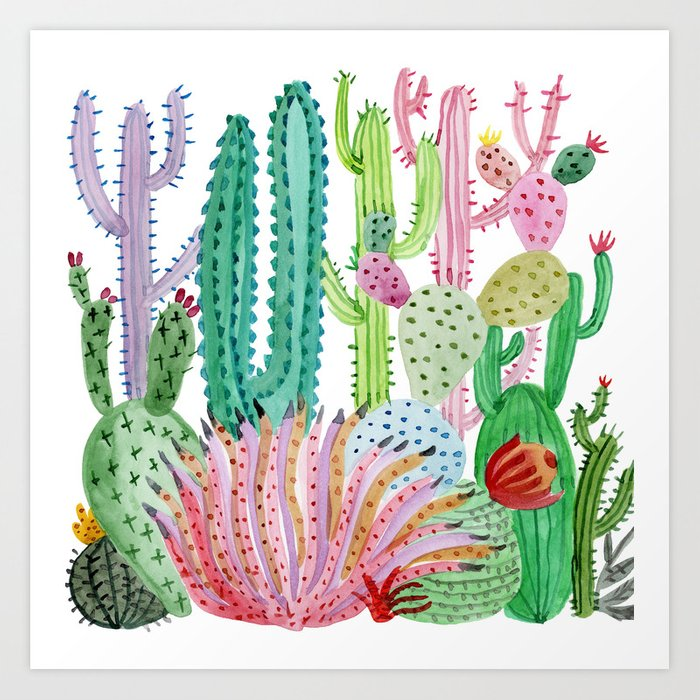Cactus Illustration Art Print