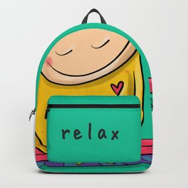 Relax   #happyman Backpack