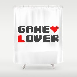 Gamer Saying Gaming Gift  Console Geek Player Shower Curtain