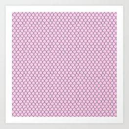 Chicken Wire Blush Art Print