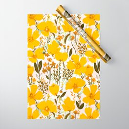 Yellow roaming wildflowers Wrapping Paper