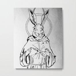 St. Francis as a Jackelope Metal Print