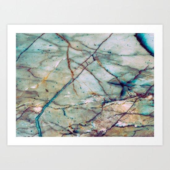 Azul Macaubas Marble Art Print