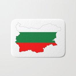 bulgaria flag map Bath Mat