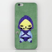 skeletor iPhone & iPod Skins featuring A Boy - Skeletor by Christophe Chiozzi
