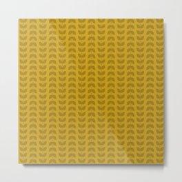 Lemon Curry Leaves Metal Print