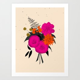 Bright Hot Bouquet Art Print