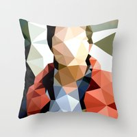 marty mcfly Throw Pillows featuring Back to the Future // Marty McFly by VIVA LA GRAPH!