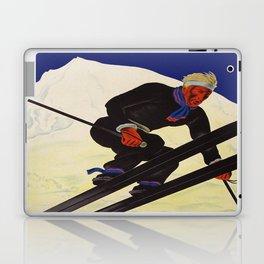 Vintage Adelboden Switzerland - Ski Jump Laptop & iPad Skin