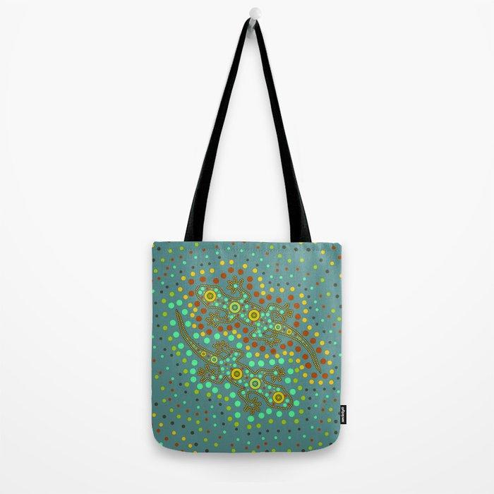 Lizards- aboriginal art Tote Bag