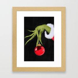 Merry Christmas from mister Grinch Framed Art Print