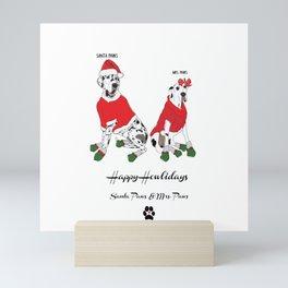 Happy Howlidays-Santa Paws & Mrs. Paws Mini Art Print