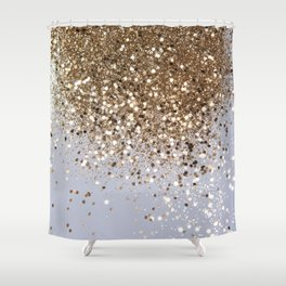 Sparkling Champagne Gold Glitter Glam #1 #shiny #decor #art #society6 Shower Curtain