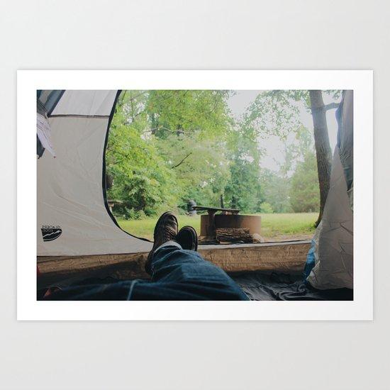 Camp Life Art Print
