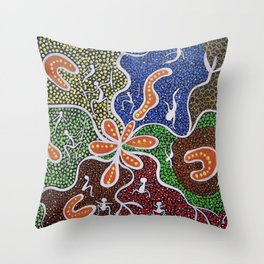 THE KUNJA YARNING Throw Pillow