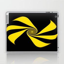 Abstract. Yellow Ribbon. Laptop & iPad Skin