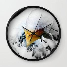 Snowflower Wall Clock