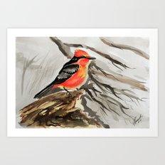Little Birds 14/30 by Veron Ramsawak Art Print