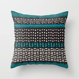 Dots, spots and zigzags pattern Throw Pillow