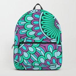 Cyan Purple Mandala Backpack