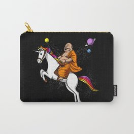 Space Buddha Riding Magical Unicorn Yoga Carry-All Pouch