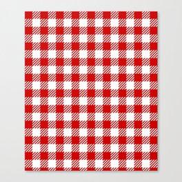 Red Vichy Canvas Print
