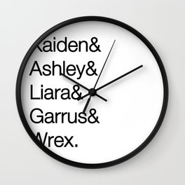 Mass Effect 1 Squad Mates Wall Clock