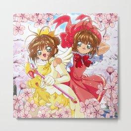 Double Sakura Metal Print
