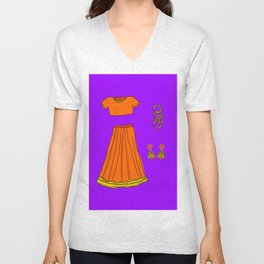 Her sari Unisex V-Neck