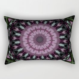 Rose And Jade Geometric Mandala Pattern Rectangular Pillow