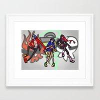 gurren lagann Framed Art Prints featuring gurren lagann - graffiti by gutter