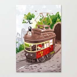 Travel By Trolly Canvas Print