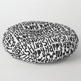 shiny happy people x typography Floor Pillow