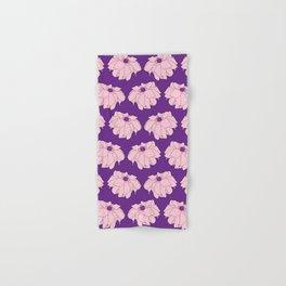 Pink Dahlia Flower Illustrated Print Hand & Bath Towel